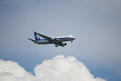 JA8670 (kuyu-peach) Tags: 2018 ana allnipponairways b767 boeing fx fullframe ja8670 nikond850 tamronsp150600mmf563divcusd aircraft airplane aviation cloud japan jet sky