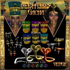 VENGE - NEPHTHYS GACHA KEY_AD (Vixn Dagger - Vengeful Threads / VENGE) Tags: egyptian roleplay rp pharaoh goddess ankh gold silver copper colorful