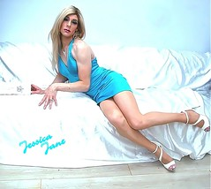 Cyan Satin (jessicajane9) Tags: tg crossdresser transvestite cd tranny crossdressing tgurl xdress trans lgbt transgender feminization tgirl crossdress tv