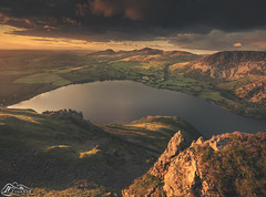 Ennerdale Water from Crag Fell (►►M J Turner Photography ◄◄) Tags: ennerdalewater ennerdale lake lakedistrict nationalpark lakedistrictnationalpark unesco worldheritagesite unescoworldheritagesite sunset hill fell cragfell blakefell gavelfell murtonfell knockmurton greatborne bownessknott herdus