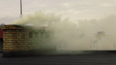 Smoke (Sadden_) Tags: chimney smoke midday clouds cloudy rooftop