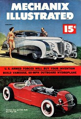 Tom McCahill and Custom Cadillac by Saoutchik, 1951 (aldenjewell) Tags: 1951 cadillac custom saoutchik coachbuilder hot rod tom mccahill mechanix illustrated january magazine cover
