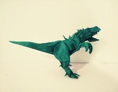 HJ Rex (GGIamBatman) Tags: origami papiroflexia hj rex trex dinosaurio indominus dinosaur park jurassic