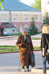 Old and young (akk_rus) Tags: 2470 28 nikkor nikkor247028 nikon d800 nikond800 people girl girls woman women lady девушка дама candid street