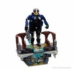 Captain Cold (NS Brick Designs) Tags: nsbrickdesigns lego moc creation build model superheroes supervillains villains characters dccomics comicbooks captaincold leonardsnart theflash cw tvshow bank display vault money freeze cold gun parka character