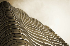 Waves (amanda.fotogaaf) Tags: tower sepia balcony wave perspective view angle pattern structure