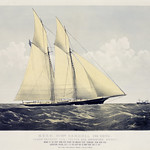 Chromolithograph of R.T.Y.C. Schr. Cambria, published by Currier & Ives. Original from Library of Congress. Digitally enhanced by rawpixel. thumbnail