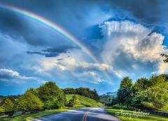 Pot of Gold Blue Ridge Parkway (Terry Aldhizer) Tags: rainbow pot gold road blue ridge mountains parkway explore park pine mountain sky weather summer clouds rain terry aldhizer wwwterryaldhizercom