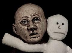 Hallucinogenic Sadness (ricko) Tags: faces heads ceramic cloth surreal 226365 2018