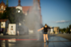 Hot town, summer in the city (Marcin eM.) Tags: pentacon50mmf18 ilce7 sonyalpha7 bokeh city summer sonya7 water drops curtain