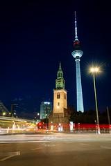 Fernsehturm Berlin (chrisamann_photos) Tags: fernsehturm city lighttrails longexposure germany berlin d7100 nikon