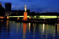 The Statue of Liberty in Paris (natureloving) Tags: paris parisstatueofliberty bluehour reflections france nightshot lheurebleu natureloving nikon d90 nikonafsdxnikkor18300mmf3563gedvr