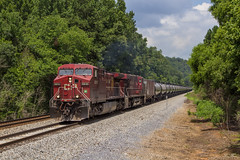 NS 64G at Lindale - Silver Creek (travisnewman100) Tags: norfolk southern canadian pacific ns cp ge ac44cw es44ac georgia division atlanta north district lindale double track railroad rr freight unit ethanol 64g locomotive