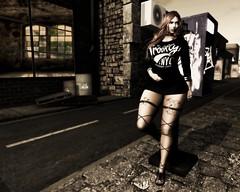 AlicePhoto (JohnnyWalker29 Resident) Tags: secondlife second life mesh body bento maitreya urban city style blog fashion tattoo dress clothing apparel phone ring view
