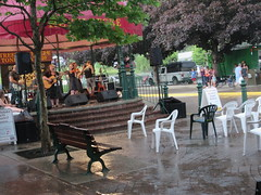 And then the rains came (jamica1) Tags: derina harvey band revelstoke bc british columbia canada plastic chairs