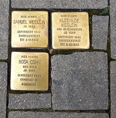 Samuel Weglein, Klothilde Weglein, Rosa Cohn (:Linda:) Tags: germany bavaria franconia town erlangen three stumblingblock