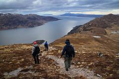 Descending (Russell-Davies) Tags: canon 6dmkii isle0feigg isleofrum isleofskye skye knoydart munro highlands uk scotland loch hourn descent hiking climbing