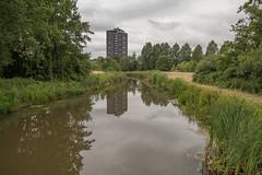 Eindhoven urban landscape. (PeteMartin) Tags: lake scyscaper eindhoven netherlands nld