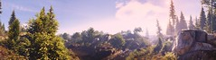 """Purple sky."" (Xenolith3D) Tags: tom clancys ghost recon wildlands screenshot panorama nvidia ansel virtualphotography rock flower grass landscape light forest water wood field purple sky tree bolivia ubisoft"