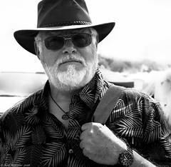 This heat is killing me . (Neil. Moralee) Tags: neilmoralee steamrally2018neilmoralee me self selfie selfy neil moralee man face portrait sunshine heat hat beard glasses dark sunglasses watch time devon steam fair black white bw bandw blackandwhite people shirt mono monochrome bright outdoor uk england britain hot wave summer shadow