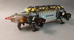 Rock Freighter (Dryvvall) Tags: lego space ship vehicle cargo transport freighter lifter