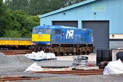 Ballymena Permanent Way Depot, August 2018 (nathanlawrence785) Tags: nir translink ballymena permanent way yard depot logo 111 class diesel 8111 8113 112 windhoff mpv