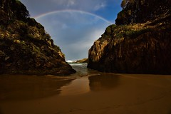 Gap (jack eastlake) Tags: fishing surfing surf tides merimbula bega tathra nsw coast south far park national bournda geology formations rock beaches wildbeachaus hdr rainbow wallagoot gap seascape