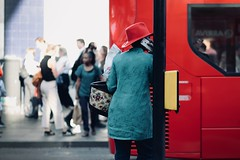 IMG_5270 (JetBlakInk) Tags: afro art brixton candid colour layercake streetscene women streetphotography red appleiphone blackgirlmagic stetson