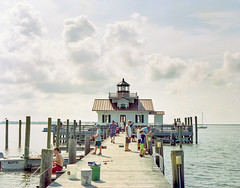 Roanoke Marshes Light (PeterStout) Tags: pentax6x7 pentax67 pentax105 portra400 obx lighthouse