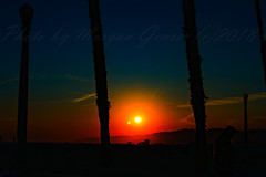 09 (morgan@morgangenser.com) Tags: sunset red orangeyellow blue pretty cloud silhouette sun evening dusk palmtrees bikepath sand beach santamonica pacificpalisades beautiful black dark cement amazing gorgeous inawe ca photobymorgangenser