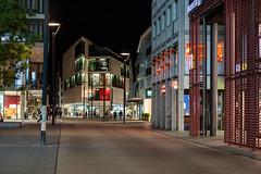 Straßenzenerie Ulm bei Nacht (BobbesStar) Tags: ulm nacht strase