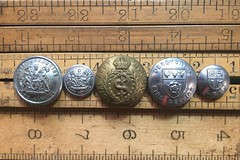 British Fire & Medical Service Buttons (blackthorne56) Tags: old vintage antique buttons uniform derbyshire service fire corps medical army royal leicestershire nottinghamshire