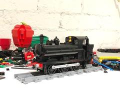 Final touches (Britishbricks) Tags: pannier loco moc train steam wip 57xx gwr lego