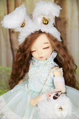 Sleepy bunny (AnnaZu) Tags: sleepy bunny cute littlefee ante sleeping bird bjd doll balljointed abjd fairyland dollfairyland