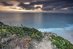 On the other side of the ocean (Sizun Eye) Tags: ocean azenhasdomar portugal sintra cliffs sunset waves le longexposure poselongue sizuneye nikond750 nikon1424mmf28 nikkor