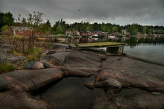 Old harbour (PentlandPirate of the North) Tags: hanko finland suomi hango fishing harbour port huts jetty