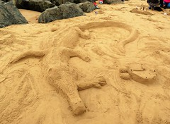 Summer on the Sand (bikerchick2009) Tags: beach sand mermaid sculpture newbrighton merseyside creatures summer sun wallasey wirral england art