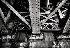 Under (Svendborgphoto) Tags: monochrome metal machinery steel svendborgphoto prague decay detail fe28 sonyalpha sonya7ii 28mmf2 old bw blackandwhite building rust