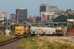 The Last Few Miles (Jake Branson) Tags: train railroad locomotive emd sd90mac sd9043mac union pacific up kansas city metro sub subdivision mo missouri ks skyline omaha main urban