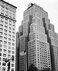 Tiered (iMatthew) Tags: bw blackandwhite architecture nyc newyork pennstation urban iphoneography monochrome monochromatic