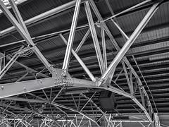 Architectural Detail .... ; (c)rebfoto (rebfoto ...) Tags: rebfoto monochrome architecturaldetail structuralelements structure structuralframes industrial