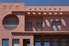 Circles & Squares (jarhtmd) Tags: africa morocco marrakesh canon eos70d canon70200f4l architecture building bldg bldgdetail circle color detail facade square pink