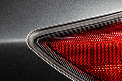 good-lookin' piece o' tail on the side (MyArtistSoul) Tags: mazda3 driverside rear taillight sideview red reflector grey metallic paint car automobile angles simple minimal abstract texture pattern 7514