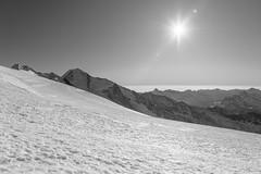 Above the clouds (Rico the noob) Tags: dof d850 landscape comerge nature switzerland outdoor 2470mmf28 clouds sun 2017 zermatt monochrome schweiz published blackandwhite 2470mm sky snow mountains bw mountain
