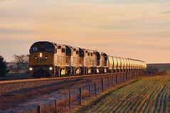 C the sunrise (Bingley Hall) Tags: australia southaustralia huddlestone transport train transportation trainspotting rail railway railroad artc diesel locomotive engine southernshorthaulrailroad