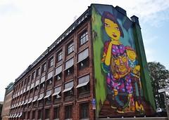 Södermalm (Douguerreotype) Tags: sverige art sweden street buildings stockholm streetart architecture city window urban graffiti wall