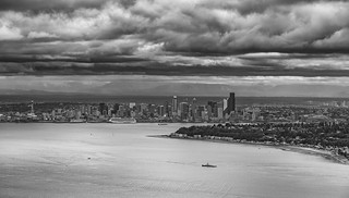 Downtown Seattle and Cascades