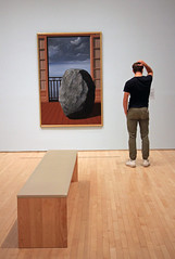 Pondering the Invisible World (JB by the Sea) Tags: sanfrancisco california july2018 financialdistrict sanfranciscomuseumofmodernart sfmoma renemagritte surrealism surrealist painting