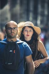 Blue eye contact (De Mi Ser) Tags: candid street city girl beauty urban eyecontact
