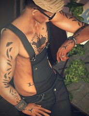Time is almost up... (Marcus Wisser) Tags: bracelet clothing fashion glasses hair kunst lhomme lhommemagazine male men meshmerized meva overall secondlife show sl sleepyeddy tattoo volthair watch